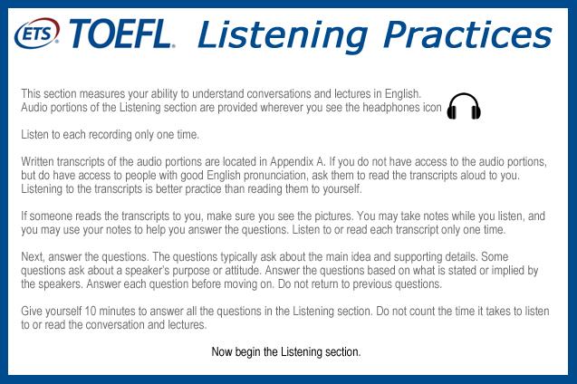 TOEFL Listening Practices 3