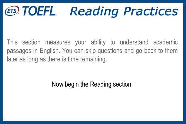 TOEFL Reading Practice 1