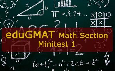 eduGMAT mini-test 1: Aritmética