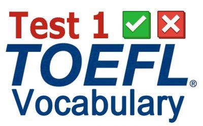 Evalúa tu vocabulario TOEFL 1